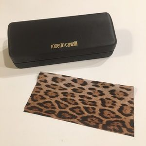 Roberto Cavalli Sunglasses Case w/Cleaning Cloth